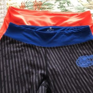 2 pair work out pants, Gator orange and blue!